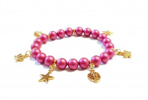 Kit Bracciale Perle Swarovski Mulberry Pink