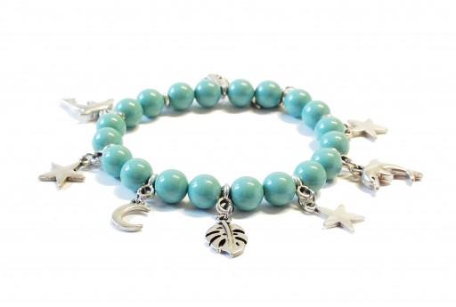 Kit Bracciale Perle Swarovski Jade