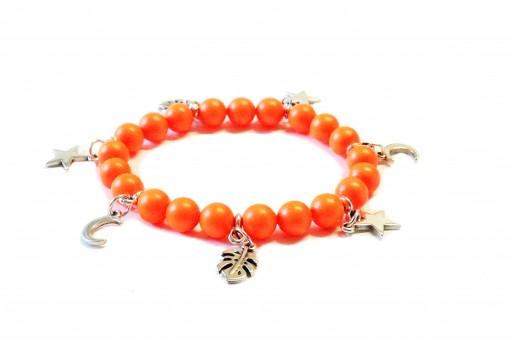 Kit Bracciale Perle Swarovski Neon Orange