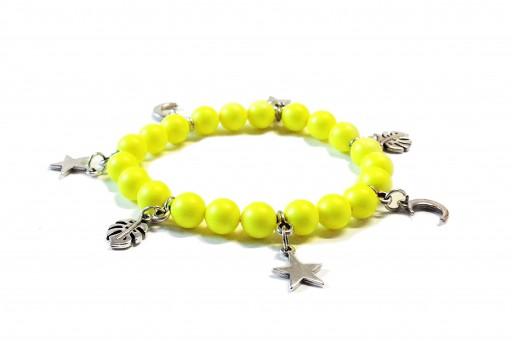 Kit Bracciale Perle Swarovski Neon Yellow