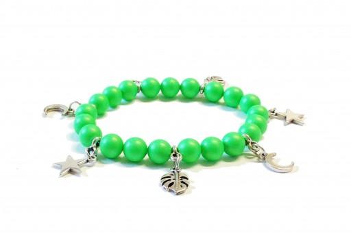 Kit Bracciale Perle Swarovski Neon Green