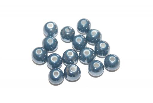 Perline Ceramica Tondo 6mm Blue