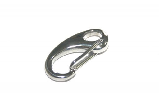 Stainless Steel Snap Clasps - Platinum 26x13mm