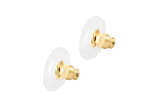 Farfalline Plastica Acciaio - Oro 11x6mm