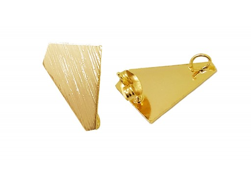 Orecchino Perno Minimal Jewelry Poligono - Oro 18x13mm