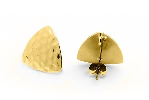 Orecchino Perno Minimal Jewelry Triangolo - Oro 16x17mm - 2pz