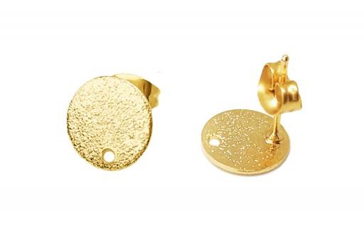 Orecchino Perno Minimal Jewelry Tondo - Oro 10mm - 2pz
