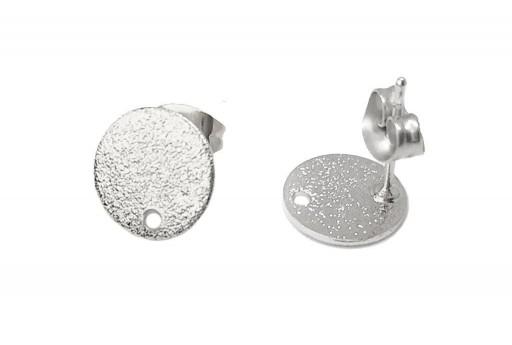 Orecchino Perno Minimal Jewelry Tondo - Platino 10mm - 2pz