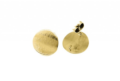 Orecchino Perno Minimal Jewelry Tondo - Oro 15mm - 2pz