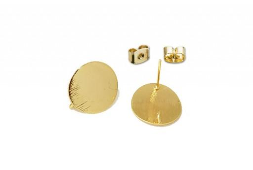 Orecchino Perno Minimal Jewelry Tondo - Oro 12mm - 2pz