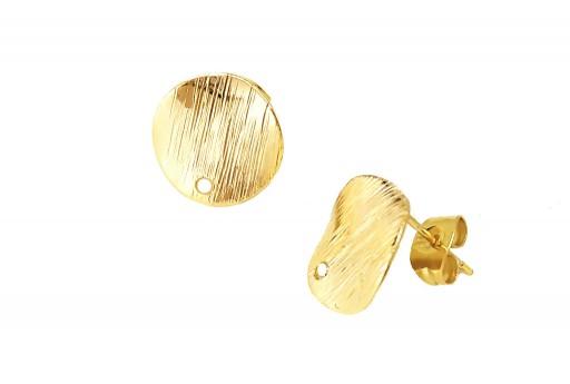 Orecchino Perno Minimal Jewelry Tondo - Oro 12,5mm - 2pz