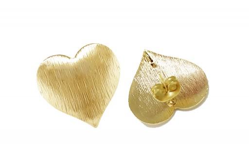 Orecchino Perno Minimal Jewelry Cuore - Oro 19mm - 2pz