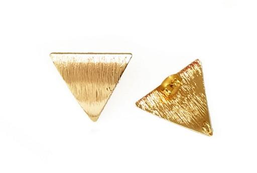 Orecchino Perno Minimal Jewelry Triangolo - Oro 19x22mm - 2pz
