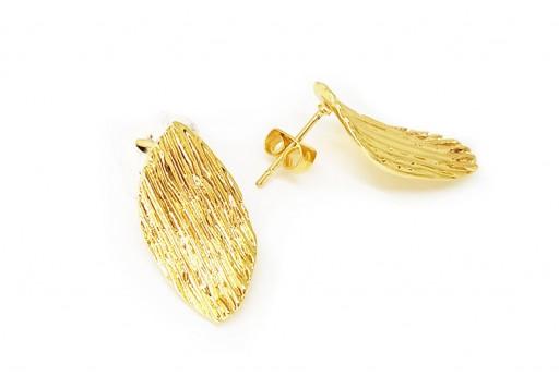 Orecchino Perno Minimal Jewelry Ovale Twist - Oro 21x11mm