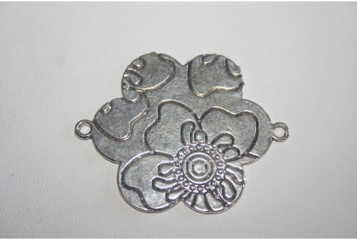 Tibetan Silver Flower Shaped Connectors 49x38mm