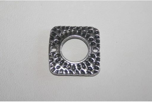Connettori Quadrati Argento Tibetano 18x18mm - 4pz