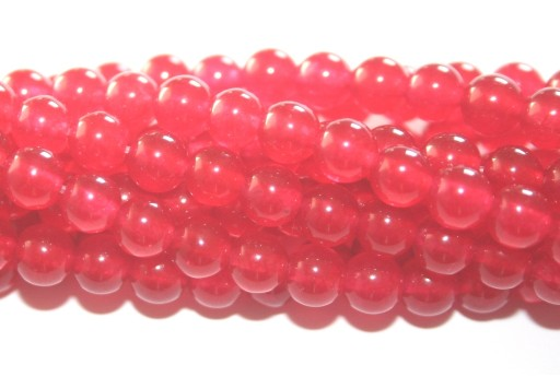 Giada Colorata Rossa - Tondo 6mm