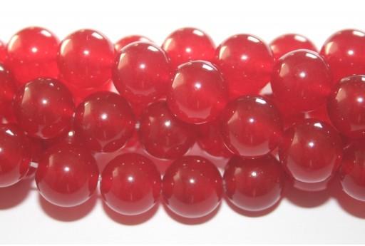 Giada Colorata Rossa - Tondo 10mm