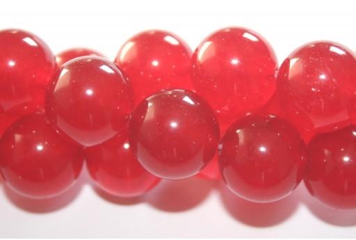 Giada Colorata Rossa - Tondo 14mm
