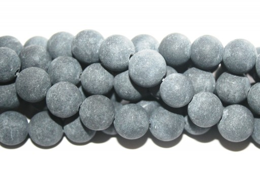 Black Stone Matte Finish - Rounds 10mm - 38pcs