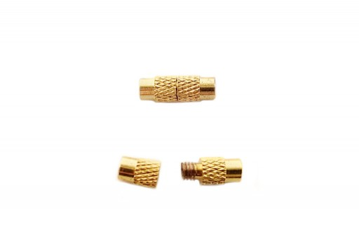 Cylinder Screw Clasp - Gold 12x4mm - 2pcs