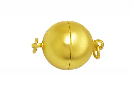 Magnetic Clasp Round Brass - Gold 12mm