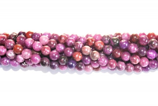 Gemstones Lepidolite - Round 6mm - 64pcs