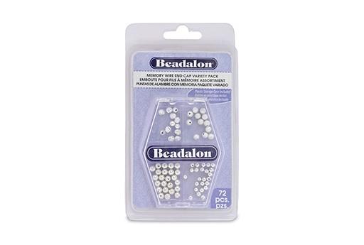 Beadalon Confezione Tappi per Filo Armonico - Argento 72pz