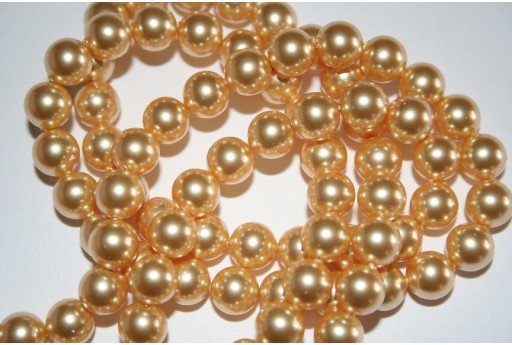 Swarovski Pearls Gold 5810 8mm - 8pcs