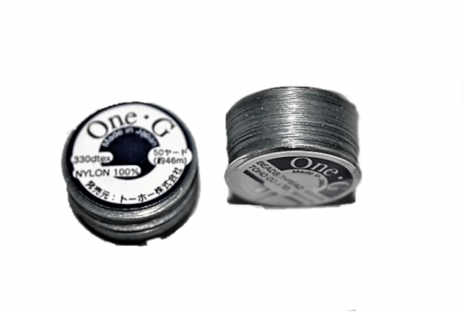 Toho One-G Nylon Thread 0,20mm - Light Grey 46m