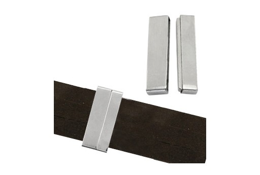 Steel Magnetic Rectangle Clasp 22x13mm