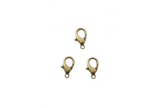 Brass Lobster Claw Clasps 12x7mm - 10pcs