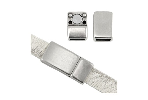 Magnetic Clasp - Silver 16x8mm - Hole 5x2mm