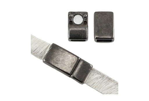 Magnetic Clasp - Gunmetal 16x8mm - Hole 5x2mm