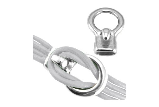 Metal Hook Clasp - Silver 33x23mm - Hole 11x5mm