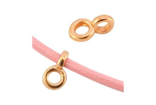 Componente per Pendente - Oro Rosa 4,5x7mm - 6pz