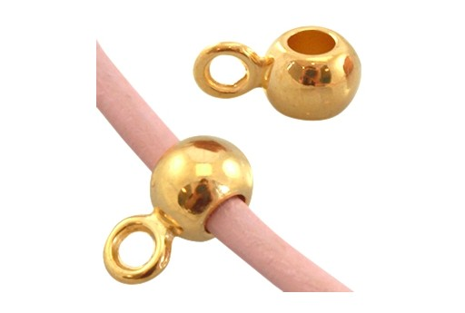 Special Component Gold 24K Hole 5mm 5x11mm - 4pcs