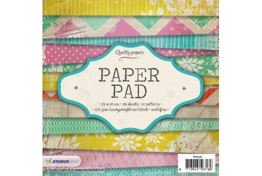 Set di Carte Decorate Paper Pad n.66 Studio Light 15x15cm 36pz