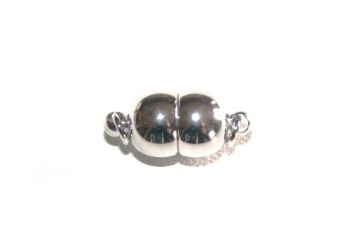Platinum Plated Magnetic Clasp 15x7mm
