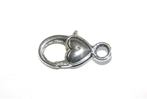 Tibetan Silver Heart Shaped Lobster Clasps 27x14mm - 2pcs