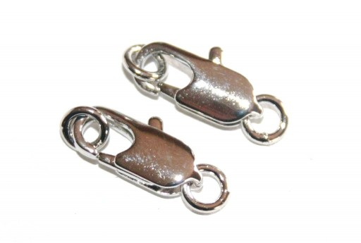 Rhodium Plated Copper 14mm Lobster Clasp