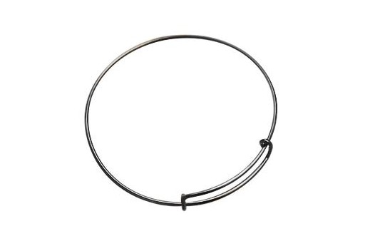 Gunmetal Plated Closed Bracelet 62X1,5mm
