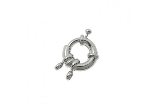 Platinum Plated Spring Ring Clasp 11mm - 2pcs