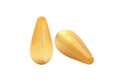 Gocce Polaris Perlato - Oro Chiaro 10x20mm - 2pz