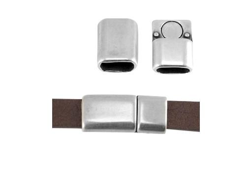 Silver Zamak Magnetic Clasp 23x14mm - 1pcs