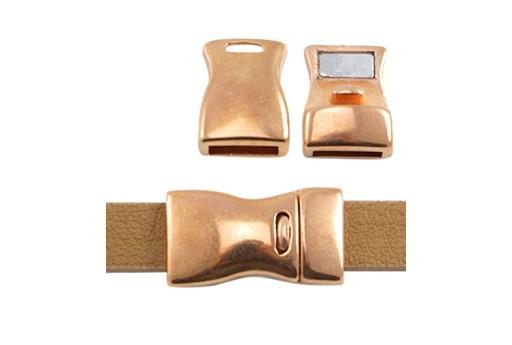 Zamak Magnetic Clasp Rose Gold 23x13mm - 1pcs