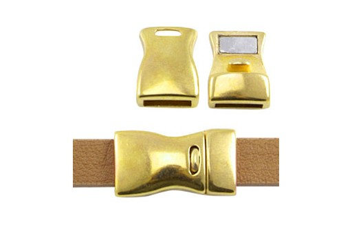 Zamak Magnetic Clasp Gold 23x13mm - 1pcs