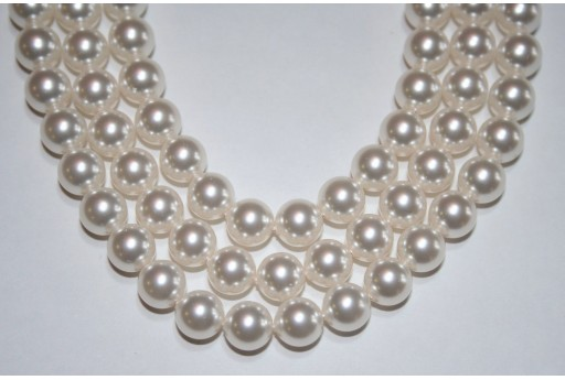 Perle Swarovski White 5810 8mm - 8pz