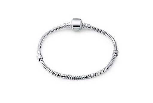 Platinum Colour Bracelet for Large Hole Beads 18cm