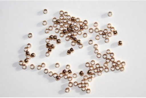Gold Plated Crimp Beads 2mm - 3g
